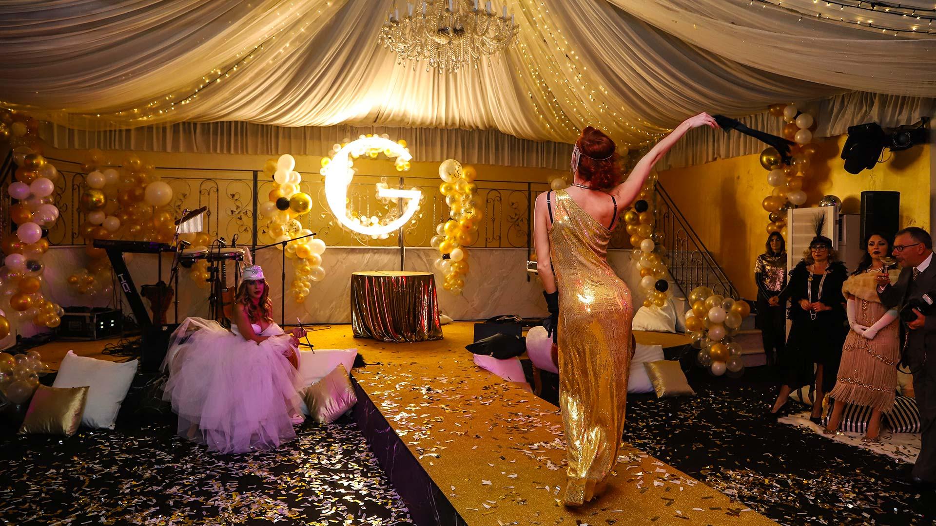 BigBalloonGroup - Allestimento - tema Il grande Gatsby